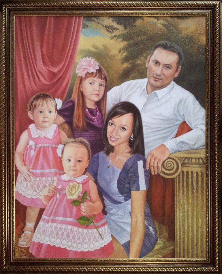 Семейный портрет маслом в Тамбове — правильная традиция…