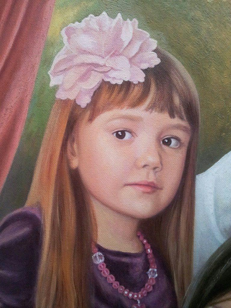 Семейный портрет на холсте Тамбов
