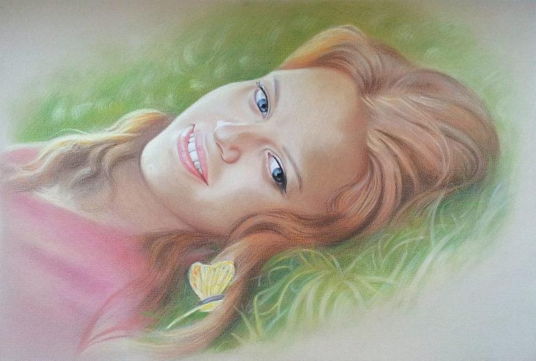 Настоящий портрет пастелью для любимой девушки в Тамбове, просто и со вкусом!
