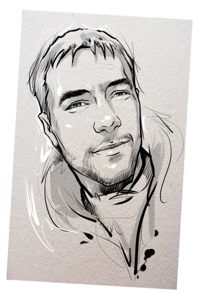 Портрет карандашом любимому мужу в Тамбове…