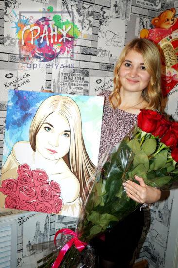 Яркий фото отзыв портрета в стиле поп арт, говорит сам за себя…