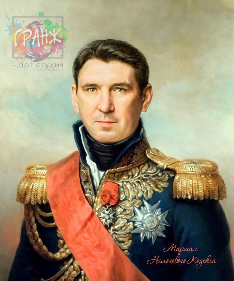 Портрет по фото на холсте в подарок мужчине Тамбов
