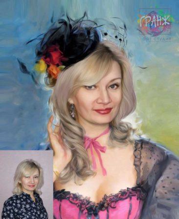 Заказать арт портрет по фото на холсте в Тамбове