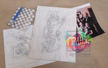 Картина по номерам по фото, портреты на холсте и дереве в Тамбове